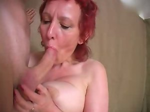 Red head attractive mature