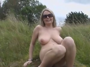 Enormous tits Light-haired Fingering In Nature BVR