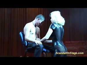 Lap Dance on public show stage this weekend filmed