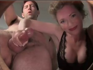 Handjob cumshot compilation from one lady