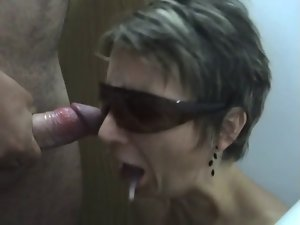 Hungarian slutty wife fellatio and don't like the sperm