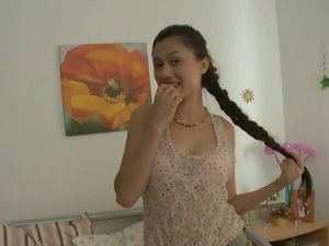 Uzbek girlie wants big Sensual russian phallus
