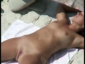Bare Beach - Lewd Housewifes Fingering & Grinding
