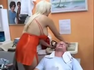 Extremely large tits Haircut