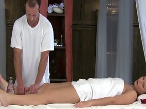 Massage actress amateur gets massage from her masseuse