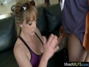 Buxom Sensual Cougar Ride Huge Ebony Mamba Pecker clip-31