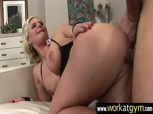 Sex positions with sexual fuck partner after workout 23