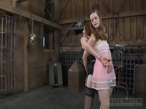 Luscious whipping for beauty&#039_s naughty butt