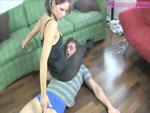 Teasing Ballbusting Assistant Ashley Sinclair PART 2