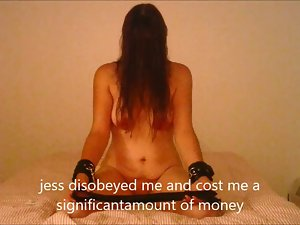 jess is punished with a extremely severe belting