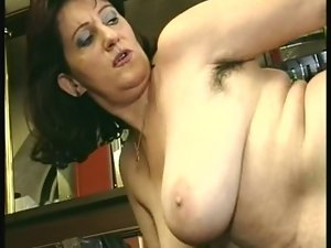 Attractive mature thumped in empty bar