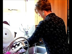 Sissy Mature whore Washing Up
