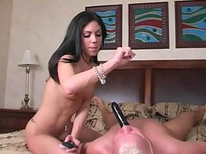 chastity slave pleases mistress