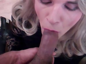 blondie cock sucking and cumshot