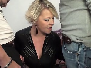 Experienced Sophia backdoor screwed in front of her husband