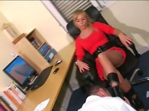 Boots worship in office