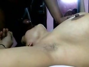 Seductive indian - DESI Bushy Slutty wife BLOWING