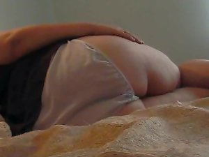 Huge butt Pawg almost ruins her panties with HUGE FART