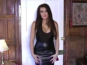 charley atwell luscious leather skirt tease