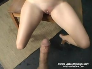 Sensual butt light-haired bouncing while grinding