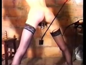 French girl gets rough BDSM