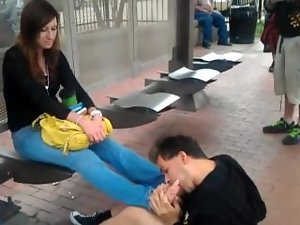 Public Toe Licking
