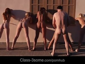 One guy,4 lasses -Abigaile Johnson,Erica Fontes,Anges Rivas,Denisa Heaven