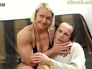 strong dirty wife dominate her husband
