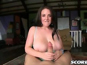 Angela White giving the best tit fuck