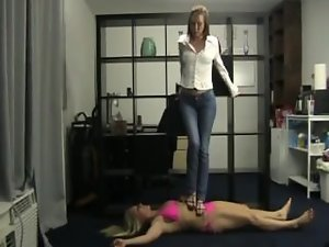 mistress megan trampling on slave girlie