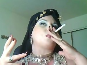 Goddess Bella Donna,a thick smoking gypsy Queen.