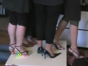 Italian wenches trampling in high heels