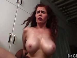 Fallen angel banged by her boss at work