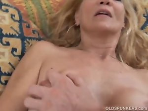 Bony tempting blonde Filthy bitch find enjoyment in a sticky facial cumshot