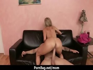 Mega boobs Mommy Mother loves to ride extremely large dick 5