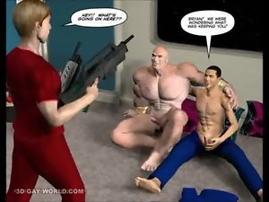 FIRST Asshole CONTACT 3D Gay Cartoon Comic Anime Story