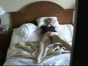 My slutty mom masturbating caught by hidden cam on the closet