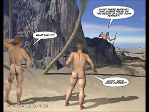 New Adventures of Cabin Young man 3D Gay Cartoon Animated Comics or Gay Hentai Toons