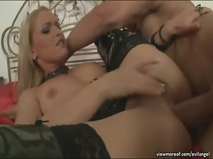 Doll and luscious Cathy Campbell getting assfucked and facial