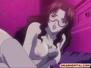 Big titted hentai dildoed cunt and doggystyle assfucked