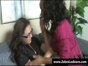 Zebra Lesbos - Sensual black lezbo slutty chicks fuck white sizzling teens 25