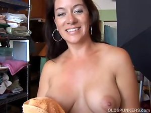 Sensual Filthy bitch Sandy delights a sticky facial cumshot