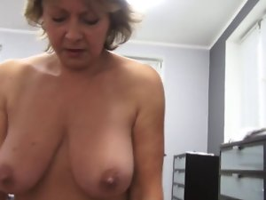 Czech solid Point of view 53yo dick sucking fuck and cumming on extremely large tits