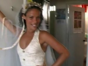 Bride Sharing with Brazilian Lads in Honeymoon
