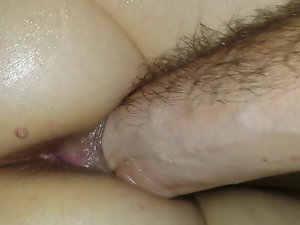 fist in wife's oiled vagina up close stunning anal