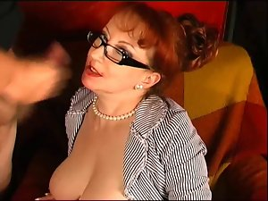 Redhead English Mommy Cock sucking