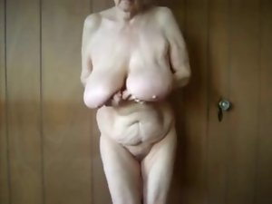 Amazing saggy hooters grandma