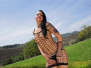 Freaky tattooed lady is ready to ride some adorable pecker right now