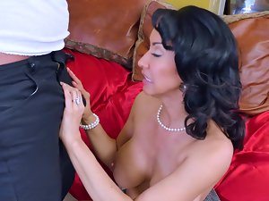 Brunette nympho is ready to use this well hung stud right away