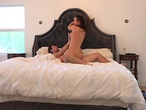 Beauteous body slutty girl Kendall Karson banged passionately in his bed